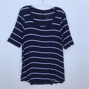 American Eagle Striped Scoop Neck Tee Shirt #1178